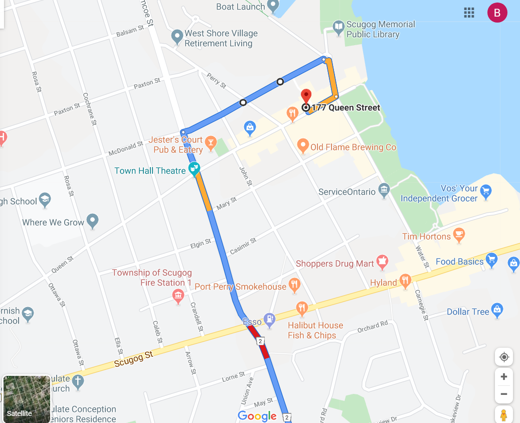 Port Perry Ontario Map